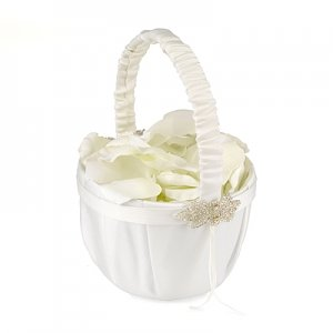 Classically Chic Flower Girl Basket image
