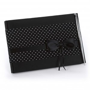 Polka Dot Wedding Guest Book with Pen image