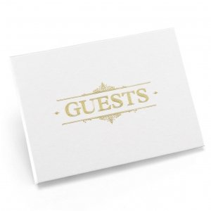 Baroque Guest Book - Gold image