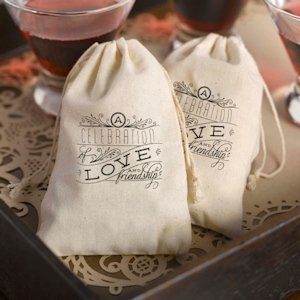 Celebration Cotton Party Favor Bags image