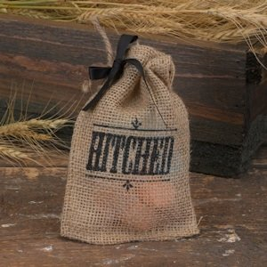 Hitched Burlap Country Themed Wedding Favor Bags (Set of 25) image