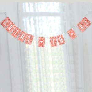Pink Coral Floral Bride-to-Be Banner image