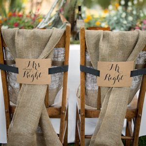 Mr. & Mrs. Kraft Chair Banners image