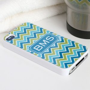 Chevron Personalized iPhone 4 Cover (2 Colors) image