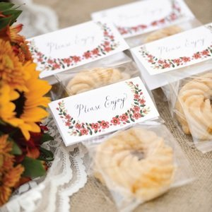 Floral Treat Toppers (Set of 25) image