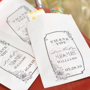 Personalized Vintage Candy Bags for Weddings (Set of 50) image