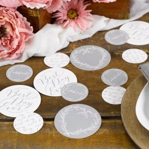 Rustic Vines Best Day Ever Table Decorations (32 Pieces) image