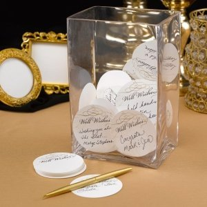 Golden Elegance Mini Advice Cards (Set of 25) image