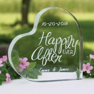 Happily Ever After Wedding Cake Top image