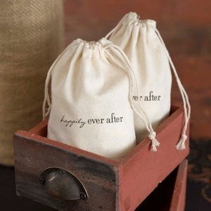 Happily Ever After Cotton Wedding Favor Bags image