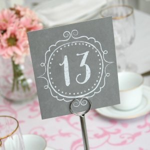 Charming Vintage Table Number Cards (1-40) image