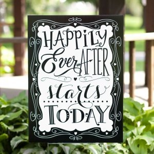 Happily Ever After Wedding Yard Sign image