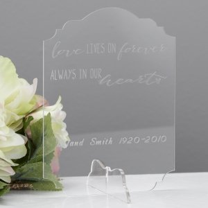 Personalized Always Memorial Sign image