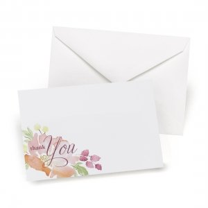 Floral Forever Thank You Note Cards (Set of 50) image