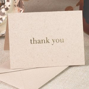 Golden Natural Thank You (Package of 50) image