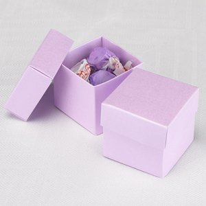 Mix and Match Two Piece Ice Purple Favor Box (Set of 25) image