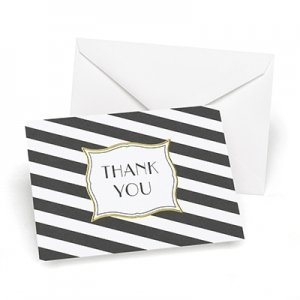 Stripes Galore Thank You Cards (Set of 50) image