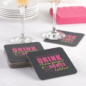 Champagne Dance Bachelorette Party Coasters image