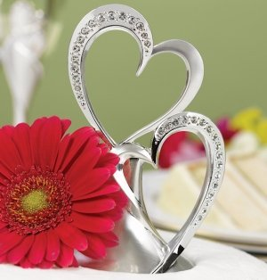 Sparkling Hearts Cake Topper image