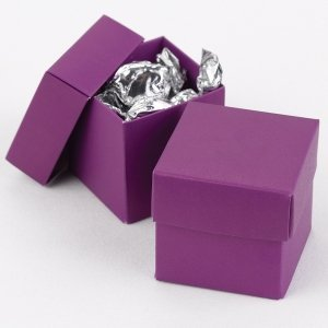 Mix and Match Two Piece Grape Purple Favor Boxes (Set of 25) image