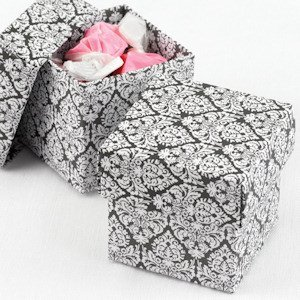 Mix and Match Two Piece Damask Favor Boxes (Set of 25) image
