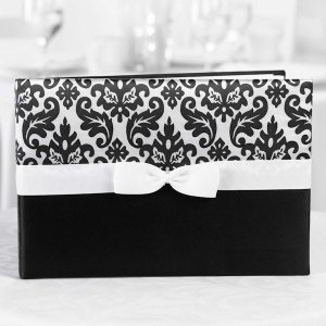 Black Enchanted Evening Guest Sign In Book image