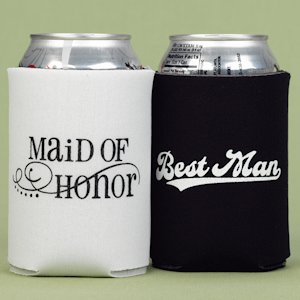 Maid of Honor and Best Man Can Koozies image