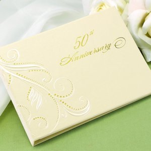 Swirl Dots 50th Anniversary Guest Book image
