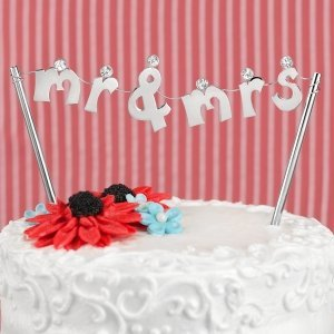 Mr. and Mrs. Banner Cake Pick image