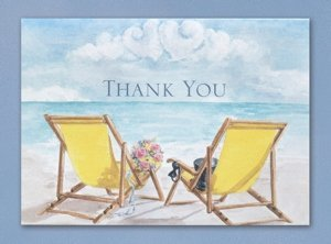 Seaside Beach Wedding Thank You Cards (50 Pack) image