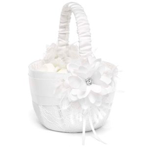Layers of Lace Flower Girl Basket image
