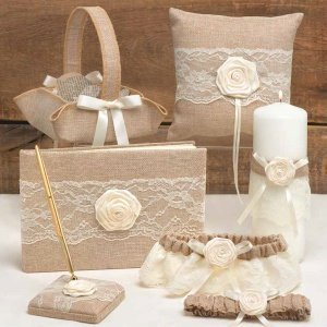 Rustic Country Wedding Accessory Set image