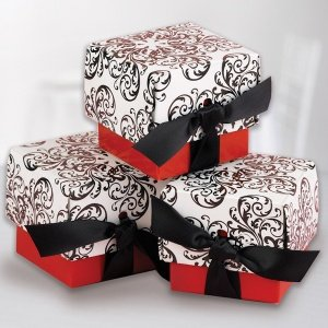 Red Filigree Favor Boxes (Set of 25) image