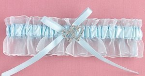 With All My Heart Blue Garter image