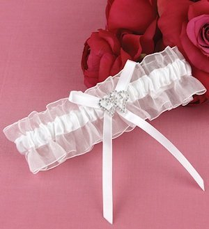 With All My Heart White Garter image