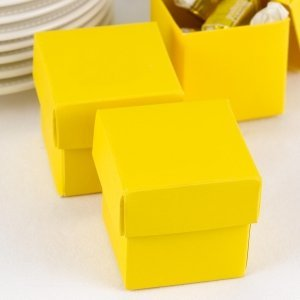 Mix and Match Two Piece Yellow Favor Boxes (Set of 25) image