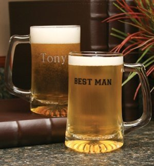Personalized Glass Best Man Beer Mug image