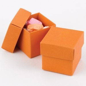 Mix and Match Two Piece Orange Favor Boxes (Set of 25) image
