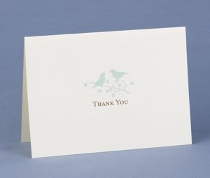 Love Birds Thank You Notes for Weddings (50 Pack) image