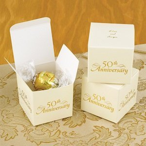 Personalized 50th Anniversary Favor Boxes (Set of 25) image