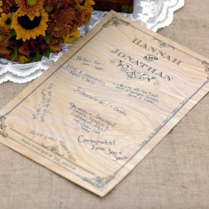 Personalized Vintage Wood Signature Poster image
