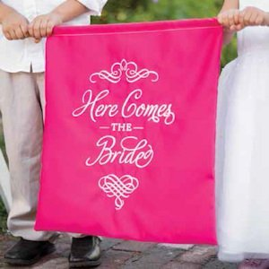 Elegant Here Comes the Bride Sign (7 Colors) image