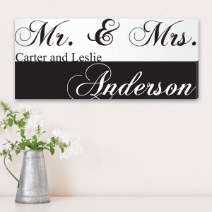 Mr & Mrs Couple's Personalized Canvas Print image