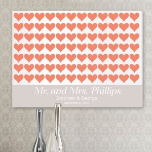 For the Love of Hearts Wedding Signature Canvas image