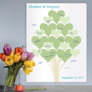 Branches of Love Wedding Tree Guest Book Canvas image
