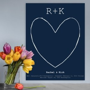 Our Story Guestbook Keepsake Canvas (3 Colors) image