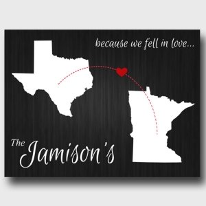 Because We Fell In Love Canvas Print (3 Colors) image