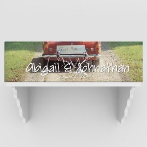 Personalized Just Married Car Canvas (2 colors) image