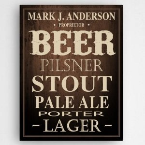 Personalized Beer Canvas Print image