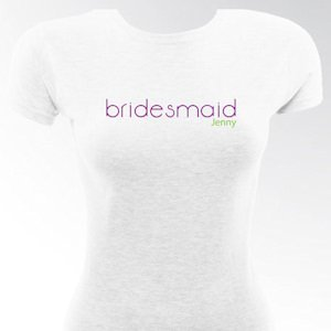 Personalized Classic Bridesmaid & Bride T-Shirts image